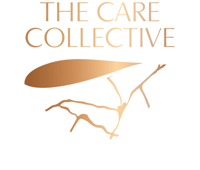 White Enso the care collective logo